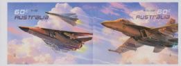 AUS SG3557-8 Air Force Aviation self-adhesive pair from booklet (exSB373)